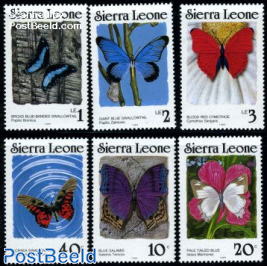 Butterflies 6v (with year 1989)
