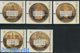 Automat stamps, coins 5v