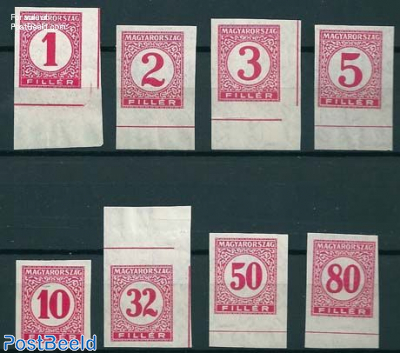 Postage due 8v imperforated