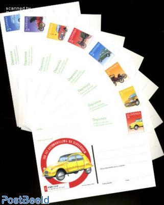 Postcard set automobiles (8 cards)