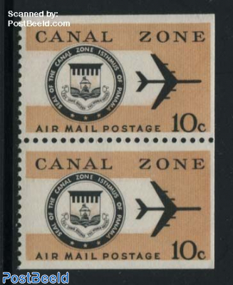 Airmail bottom booklet pair