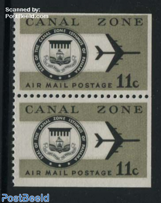 Airmail 1v bottom booklet pair