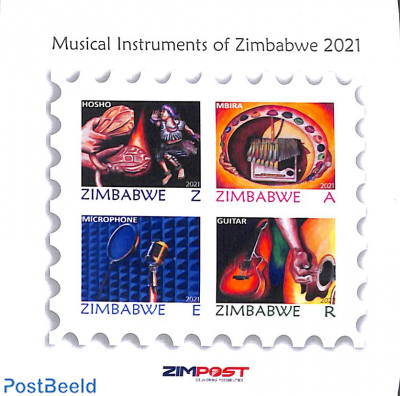 Music instruments s/s, imperforated