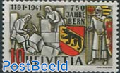 750 years Bern, Colour variety dark Orange 1v